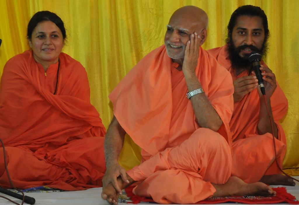 Maharaj Ji, Swamiji and Sadhviji