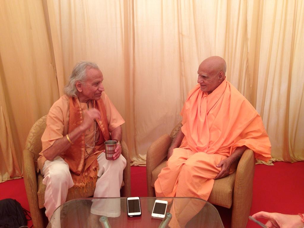 With Sadhus - Yogi Amrit Desai