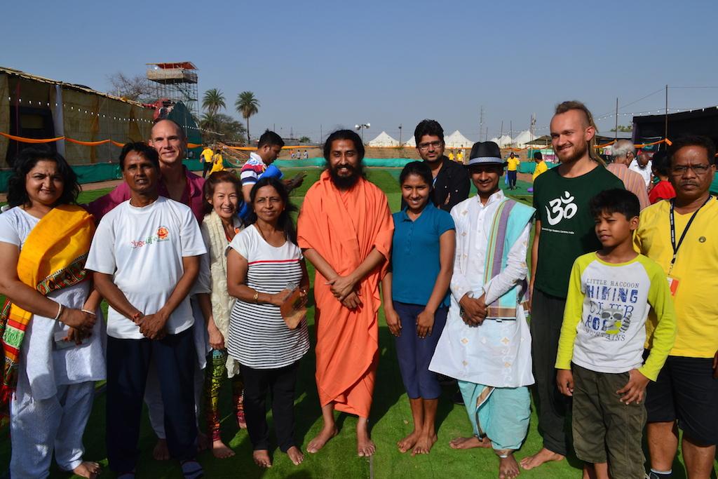 With Surya Kriya Practitioners at Yoga Kumbh