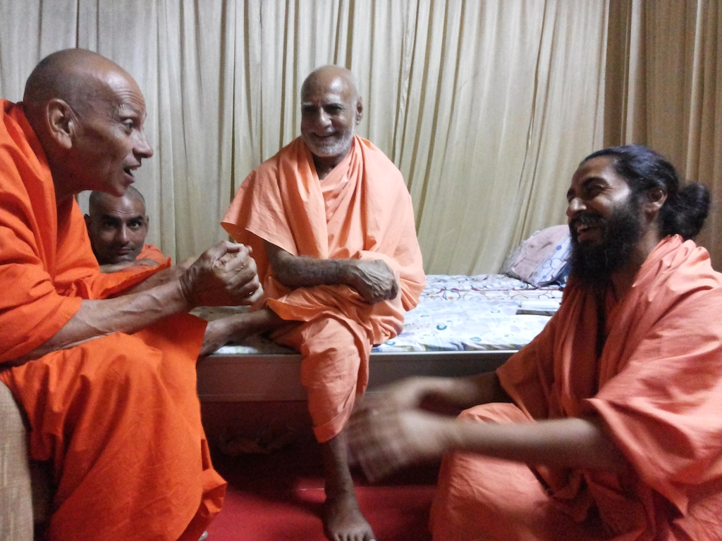 With Swami Jeetananada