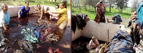 Washing the mental impurities in the stream of sewa