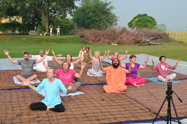 Surya Kriya Practice led by Swami Suryendu Puri Ji