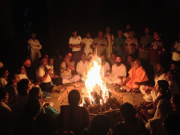 The advanced retreat including 12 hour kriya yoga practice (6 am -  6 pm), followed by a roughly two hour session of agni kriya.