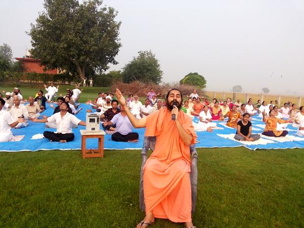 Surya Kriya Session underway at the shivir.