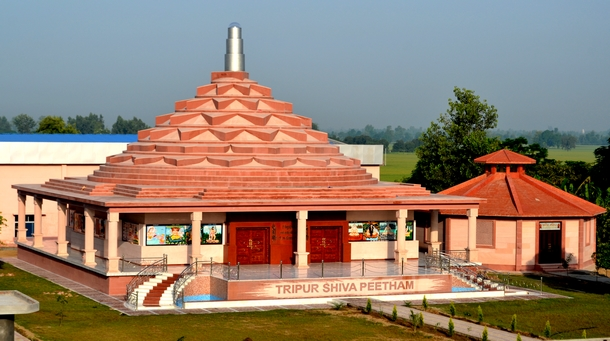A View of the newly inaugurated Tripur Shiva Peetham. Also can be seen to the right Agni Mandir where Agni Kriya Yoga sessions are held.