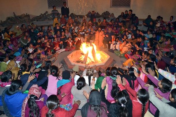 Practicing Agni Kriya with Children