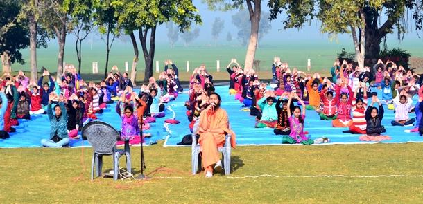 Practicing Surya Kriya with Children