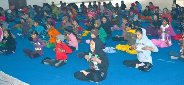 Practicing Sanjivani Kriya with Children
