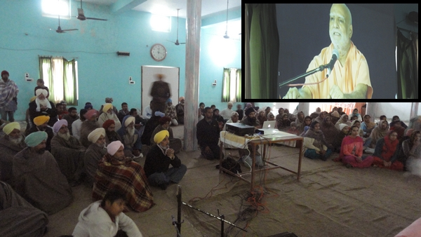 """Maharaj Ji's discourse, given on the day of Tripur Shiv Peetham's Inauguration, underway in a virtual environment during the First """"Last Sunday Sabha"""" of the year 2015 at Shabad Surat Sangam  Ashram."""