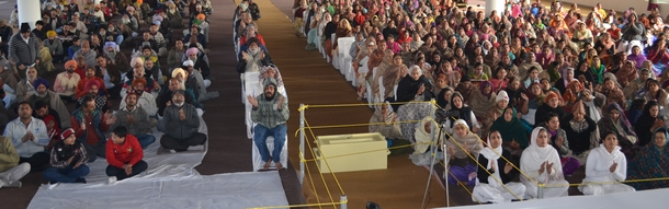 Devotees who partook of the strong emotions emanating from the memory of Swami Dayalu Puri Ji's life.