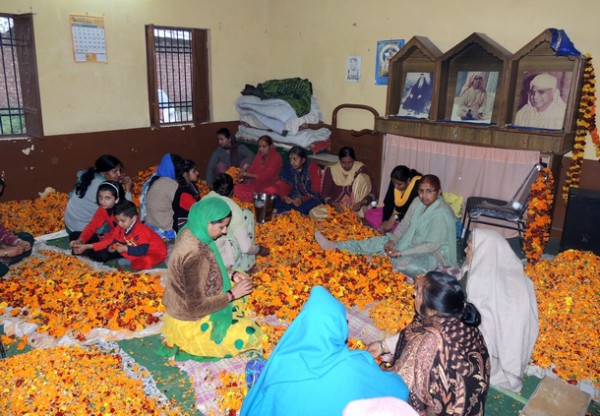 Preparations underway for the celebration of Holi with Flowers