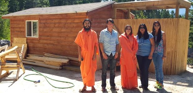 Visiting spiritual resort being developed by James Sinclair near Calgary