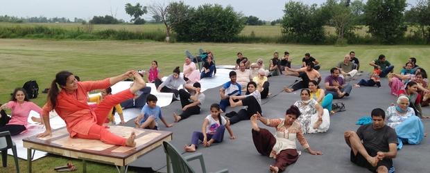 Celebrating International Yoga Day in Caledon