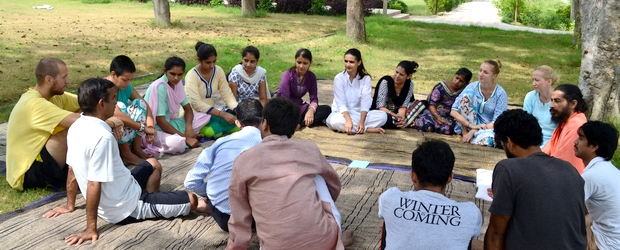 Discussion-sessions during the youth camp.