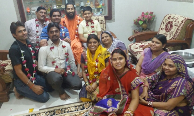 Swamiji's visit is a festivity to this family at Dahod.