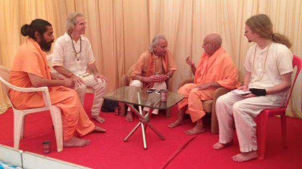 With Sadhus - Yogi Amrit Desai 2