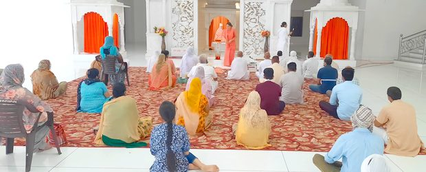 August 16, 2020 :- Due to the prevailing (COVOD-19) circumstances yet another program was celebrated via a live event on Facebook through which the devotees offered their reverence in the […]